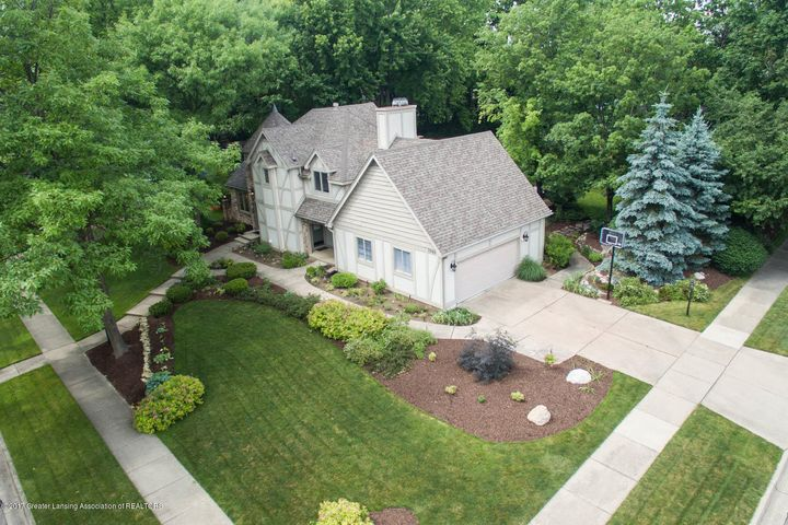 3906 Hemmingway Dr - Front Aerial - 1