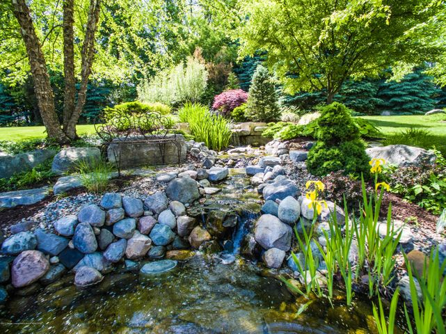 3593 Cabaret Trail - Waterfall into Koi Pond - 4