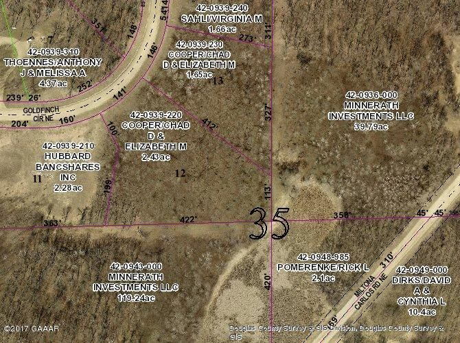 Lot 13, Blk 2 Goldfinch Circle, Miltona, MN 56354