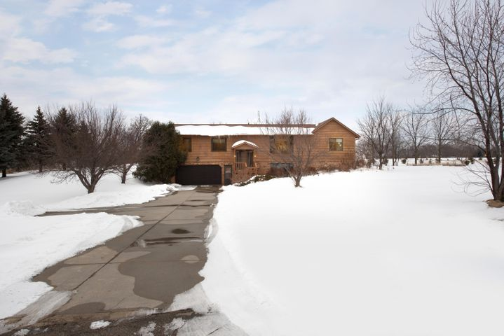 Tuck-under Garage with Concrete Driveway, Mature Trees/Landscaping