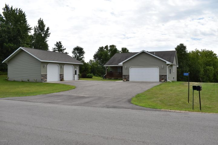 Peaceful Living at its finest.  This 4BR, 3BA rural residential property is located just west of Alexandria on +/-2.5 acres.   The home has been well-maintained and features One-Level Living, nearly 2700+ sq ft, walk-in closet, tar roads, 6-panel doors, pantry, etc.  In 2014, a 24' x 32' detached garage/shop (in-floor heat), a 4-season porch and landscaping work were completed on the property.  Lastly, for the outdoor enthusiast, note the pond in backyard and close proximity to the bike path & the park located on the NW side of Lake Brophy.