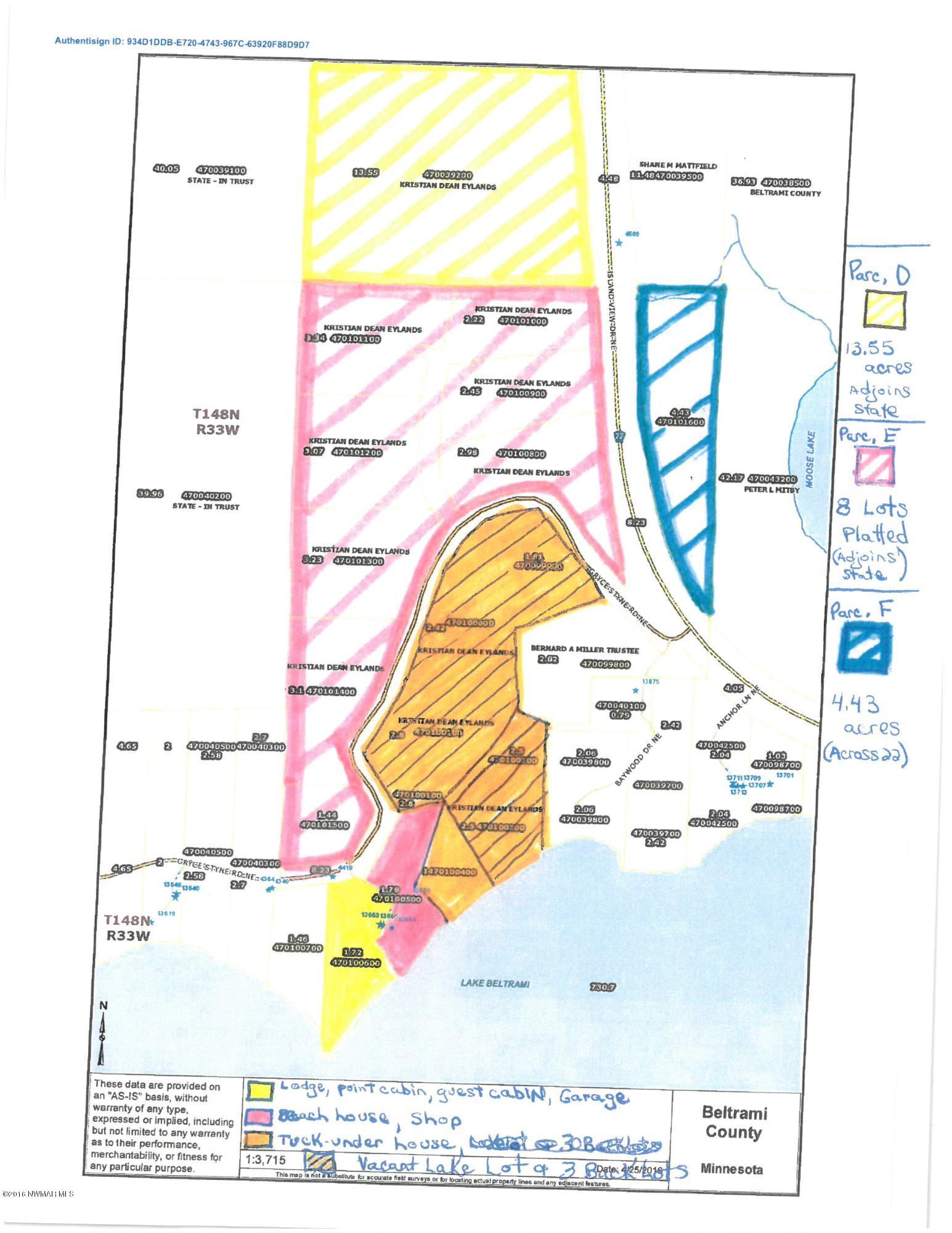 TBD ISLAND VIEW Drive NE, Parcel F, Bemidji, MN 56601