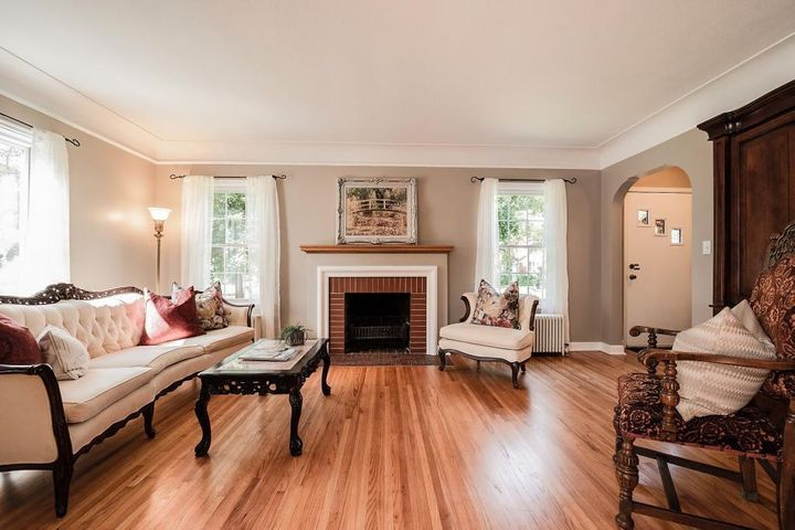 This wonderful Tudor-influenced home has the charm of a bygone era, but all the updates and conveniences of today and is located close to Minnehaha Parkway.