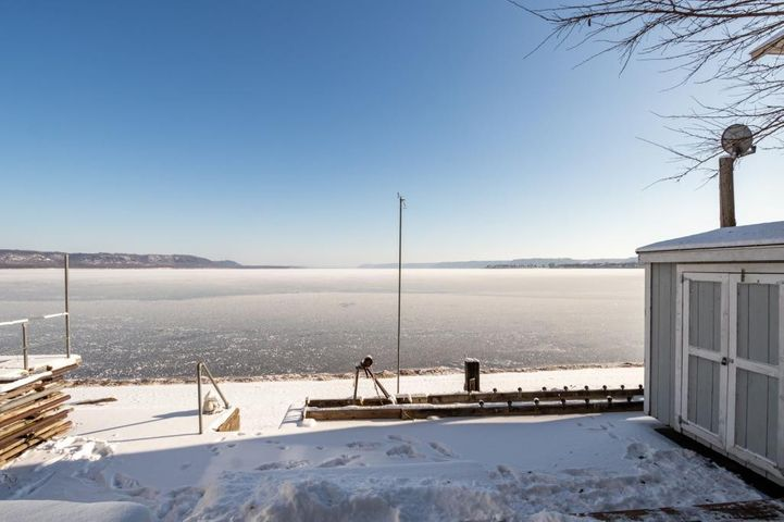 View of Mississippi River & Lake Pepin w/ 50 foot of water frontage.