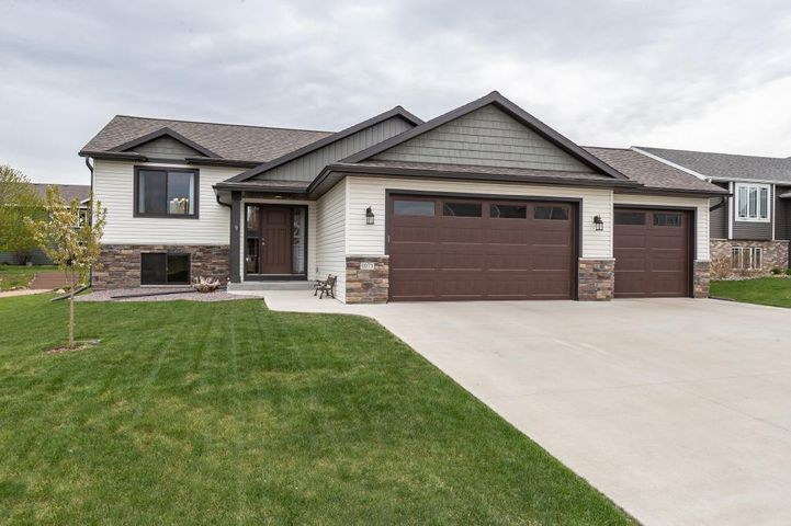 Great curb appeal with stone and shake accents!