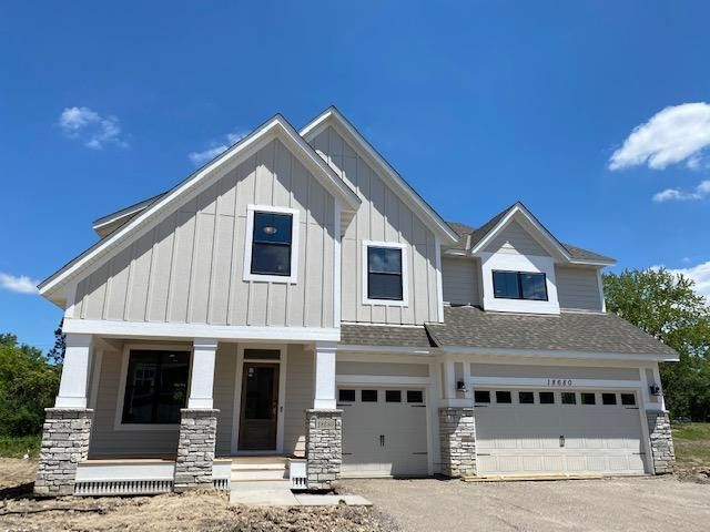 This home is under construction & almost complete!: Move in this summer: Features lovely large front porch, LP Exterior Smartside 4-sides (no vinyl), 5 bedrms 2nd fl Bonus rm,finished lower level, 2 fireplaces. Landscaping, sod & irrigation included!