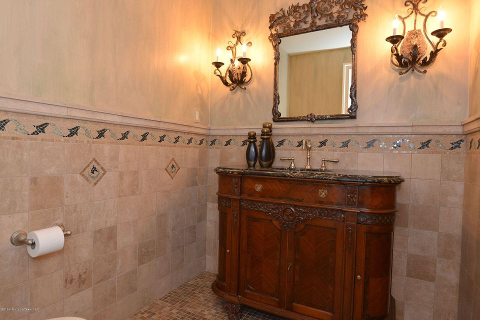 Marbled Powder Room