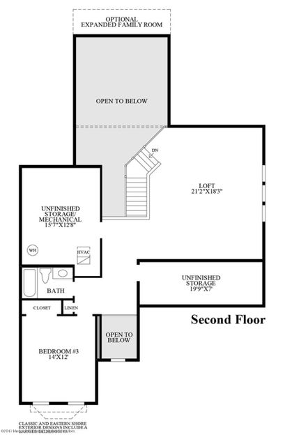Hammond second floor plan