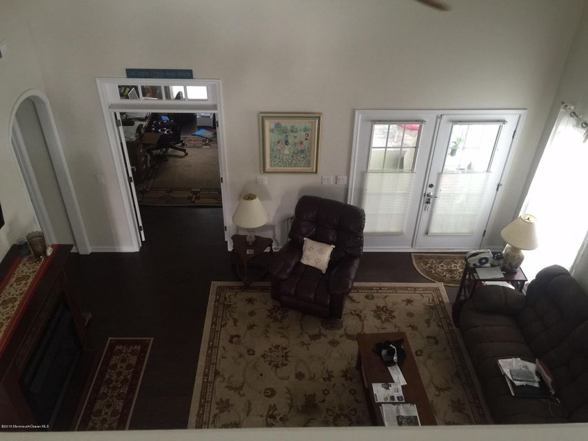 Family room as seen from loft