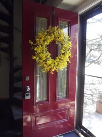 Charming front door entry