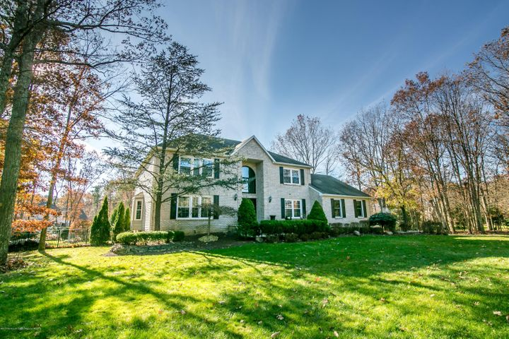 classic brick front colonial