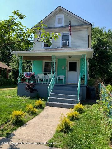 Three bedroom home on deep lot w lots of potential in a area of homes that are becoming part of the rejuvanation of Asbury PARK...Front porch and oversized yard...