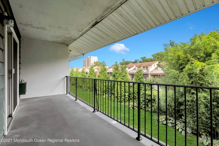 Balcony facing East