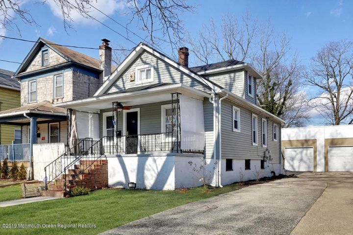 Motivated Seller and price reduction! Great home for 1st time buyers or perfect summer getaway house with newer windows, siding, central air and furnace. Both bedrooms on the 1st floor for easy living and full basement allows for storage of surf boards, bikes, beach chairs and more! Laundry/Mud room off the kitchen.  Did I mention a 2-car garage and parking for 4 on a double wide driveway? The street is full of classic Asbury Ave homes and this one can be yours! Investors welcome. Oil tank free house!