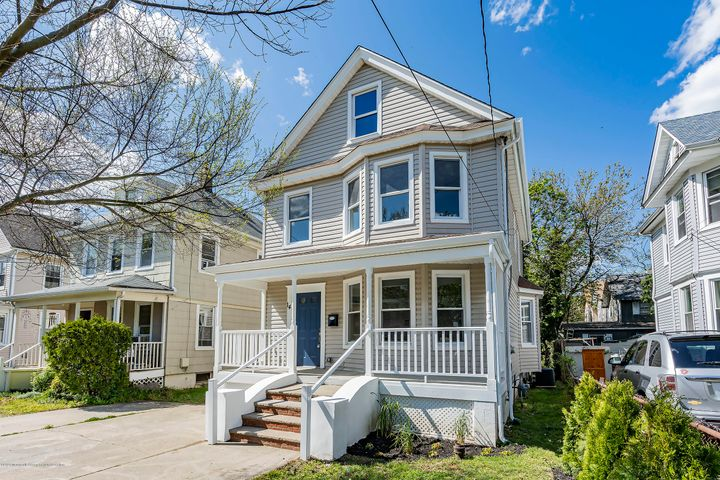 Video Tour: https://my.matterport.com/show/?m=ms2ZkYqQSHq&mls=1  Fantastic opportunity to own a spacious completely renovated 4-BR home in Red Bank at a fantastic price!! This colonial features over 1700 sq. ft of living space w/ open concept and sun filled rooms with huge bay windows in the LR and DR with HW floors throughout. Kitchen has shaker cabinets, a center island w/seating, Quartz countertops and a blk/white backsplash! Master Bedroom en suite is on the 1st floor; your own personal retreat! Upstairs find 3 generous sized BR's and a walk-up attic for storage or finish later. More features include, full basement w/new HVAC and HWH, nice size yard and rocking chair front porch. Train is 5 min walk, and close to everything RB offers. VACANT Get into the emerging west side before it it's too late!