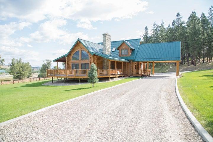 Custom Log Home Horse Property in Montana