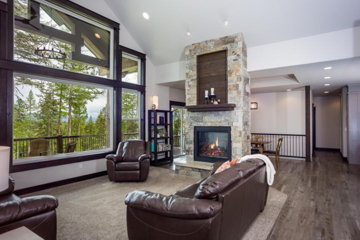 Open Concept with gas fireplace