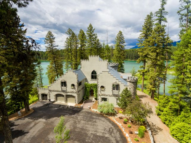 Castle-inspired Home on Desirable Private Lake