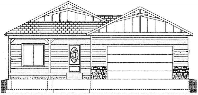 elevation of similar model, (roofline to change) call for details!