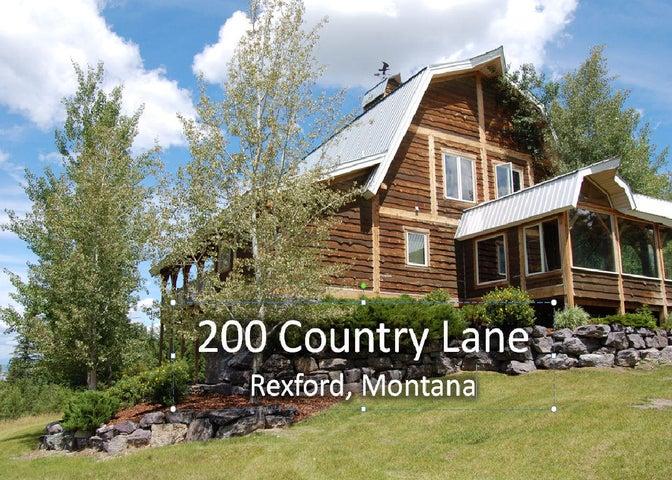 200 Country Lane, Rexford, MT 59930