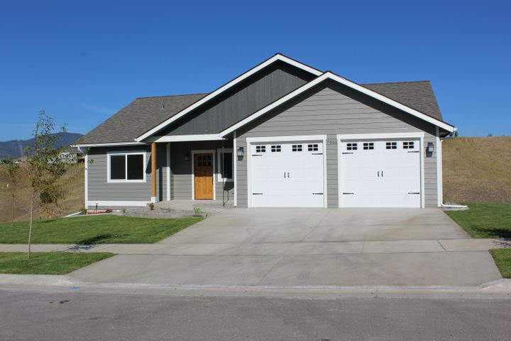 Beautiful new home by one of Missoula's most experienced home builders.  One level living at its finest with zero step entry!  Spacious entryway leads to open floor plan with amazing views to the south and west.  Knotty Alder Cabinetry in kitchen.  Large Master Suite with equally large second bedroom on the main floor.  Laundry/Mud Room off the kitchen. Full, unfinished walkout lower level.  3rd bedroom is framed in, complete with egress window.  Future bathroom also plumbed.  Covered Deck with full landscaping. NOTE: Tax information currently unavailable
