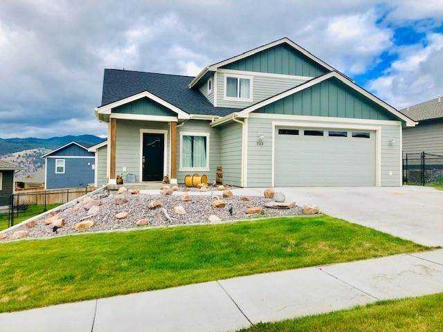 Beautiful Edgell built 3 bed 3 bath / 2016 custom Home.  Over 3000 Sq ft this home has plenty of space to fill.  Custom windows for the spectacular view of Lolo Peak.  Nicely landscaped with fence and underground sprinklers.  Located in much desired Upper Linda Vista area. Call Erik 406-396-4581 or your local Real Estate professional for a showing.