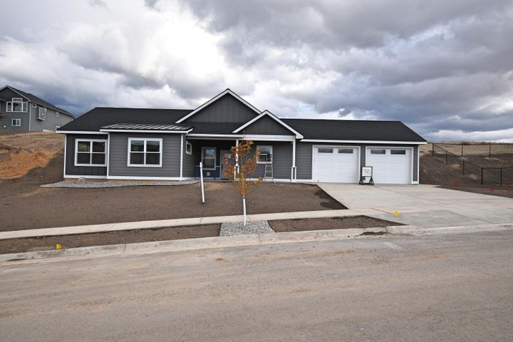 Beautiful single level, new construction, 3 bed, 2 full bath home with an attached double car garage. Sits on a 8,686 sqft lot with 1,302 sqft of living space. 10ft ceilings in the living room & 9ft in the bedrooms. Equipped with a/c central air & a fireplace. Will be fully landscaped with underground sprinklers.