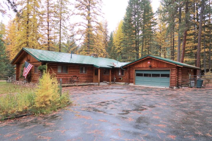 Located in the Grant Creek area of Missoula, less than 10 minutes from town, this 3 bedroom/1 1/2 bathroom log home, on 1.5+ acres, is conveniently located at the base of Snow Bowl Road.  If you enjoy the great outdoors, ease of access to hiking, biking, skiing, and zip lining, this will be a fantastic place to call home.  Trails in the area include: Ravine Creek Trail #34 -  a 5.8 mile back trail that connects to the Rattlesnake Wilderness.  As well, The Grant Creek trail is a 3.3-mile paved bicycle/pedestrian route through the rural picturesque Grant Creek neighborhood and adjacent public lands.