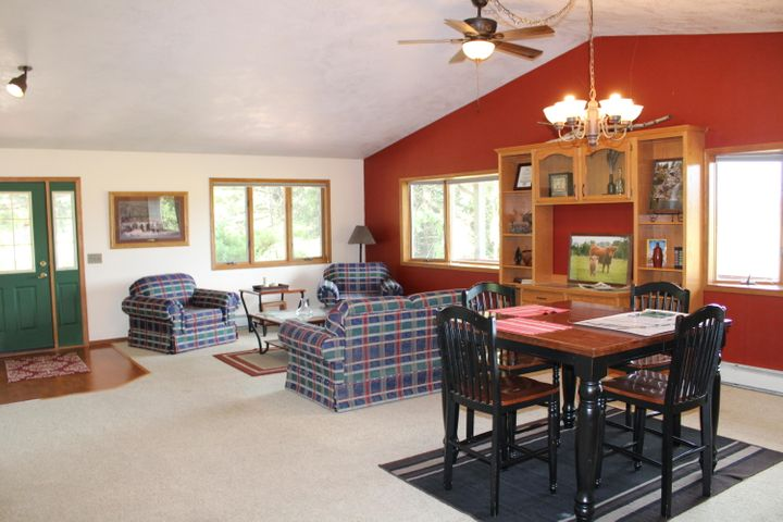 Open concept living dining area - view 1