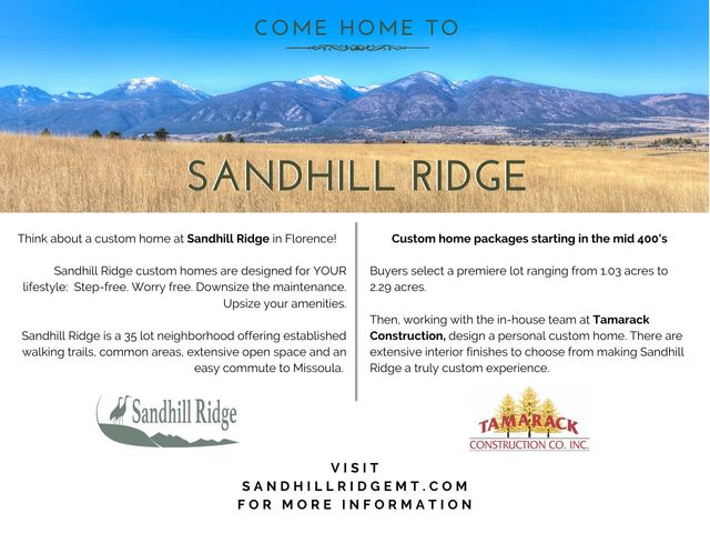 964 Sandhill Lot 2, Florence, MT 59833