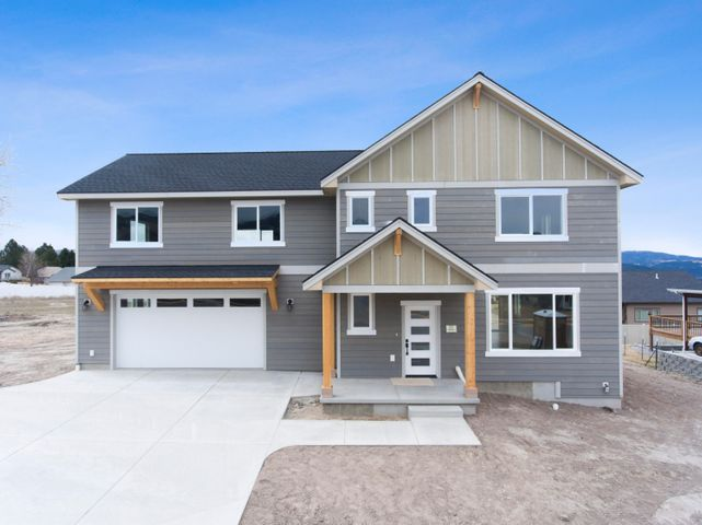 OPEN SUN MAY 17TH 1-3 PM. Covid precautions in place. Beautiful new construction.  Located in what may be Missoula's best new subdivision in Miller cR. This lot has great views. Huge bonus/game room over the garage. The home has very nice interior finishes throughout and a gas fireplace.  All bedrooms are good size and features a fantastic master suite.  The main level has a beautiful entry way, open floor plan and a mud room/half bath off the oversized garage. Lot size is perfect at just over 10,000 sf. A parking pad can be added if a buyer wants room to park a boat or RV.  Built by Edgell Construction who has a great reputation and stands behind their work. Central air is already in place. Home is vacant, professionally cleaned and ready for a new owner. Listed by KC Hart