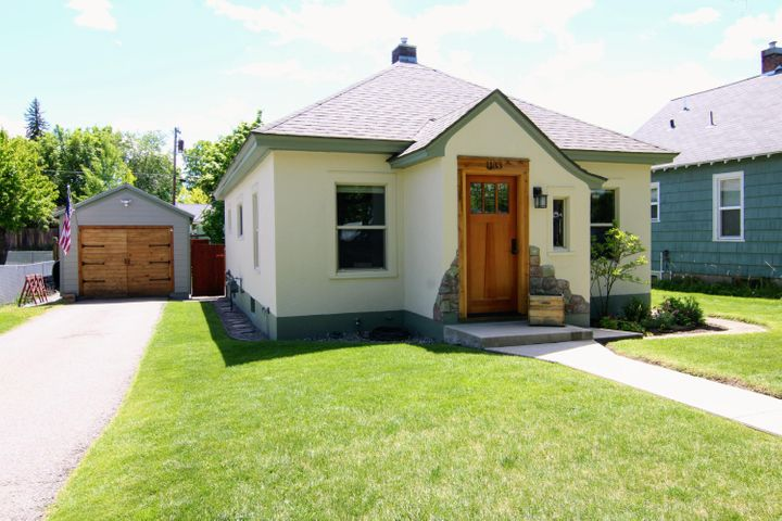 Immaculate turnkey McCormick Park bungalow, beautifully remodeled while keeping the old charm intact. Hardwood flooring throughout, coved ceilings, a remodeled kitchen with quartzite countertops & new appliances, a remodeled bathroom, new furnace and updated electrical & plumbing. As you walk through, you'll notice hints of new wood accents, newer windows & updated lighting in every room. Tasteful finishing touches everywhere bringing this adorable home together. In the basement there is plenty of storage, a large laundry area and a separate storage room. The exterior landscaping is equally as grand with its established garden area, aspen trees, fully fenced backyard, a custom large wooden gate providing access to the alley and large, recently stained, wooden deck.  Listed by Daphne Evans.