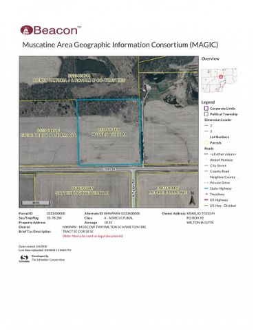 18 ACRE PARCEL 155TH STREET, Muscatine, IA 52761
