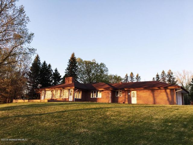 Brick Home on 4+ acres on Rose Lake near Vergas, MN