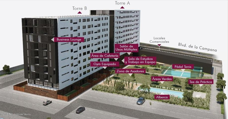 Departamento Queretaro>Queretaro>Juriquilla - Venta:2.435.000 Pesos - codigo: 18-638