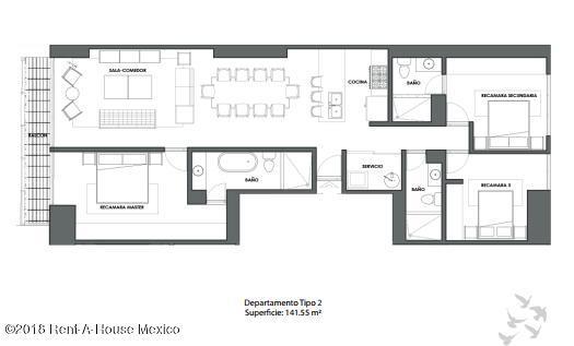 Departamento Distrito Federal>Cuauhtémoc>Roma Norte - Venta:9.020.000 Pesos - codigo: 19-172
