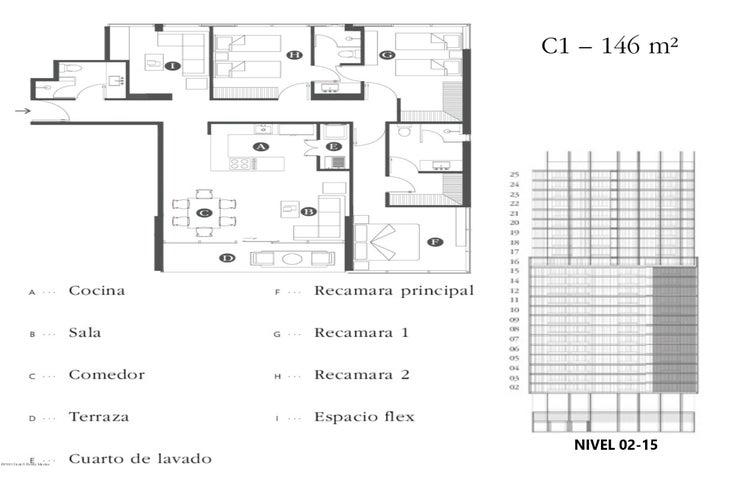 Departamento Queretaro>El Marques>Piamonte - Venta:4.061.887 Pesos - codigo: 19-638
