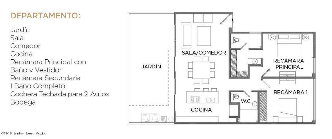 Departamento Queretaro>El Marques>Zibata - Venta:2.652.000 Pesos - codigo: 19-1418