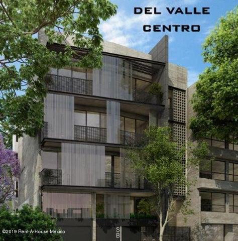 Departamento Distrito Federal>Benito Juárez>Del Valle Centro - Venta:7.950.000 Pesos - codigo: 20-1316