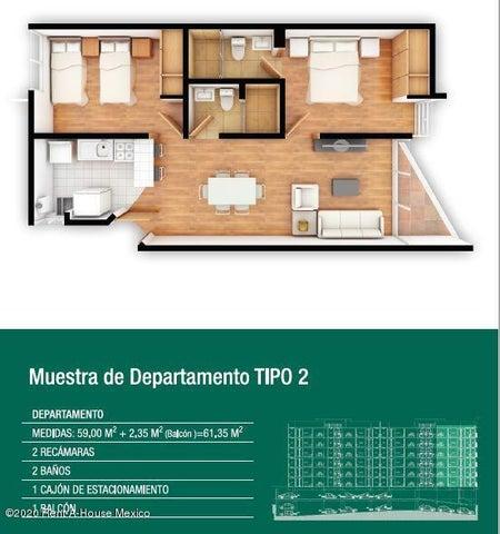 Departamento Distrito Federal>Iztacalco>Agricola Oriental - Venta:2.337.435 Pesos - codigo: 20-2639