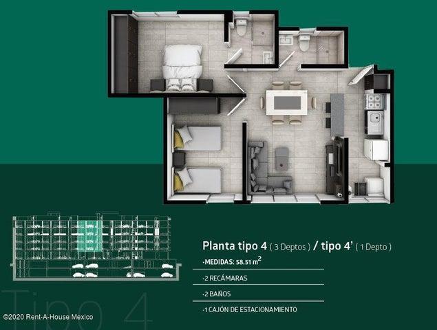 Departamento Distrito Federal>Iztacalco>Barrio Santiago - Venta:1.988.755 Pesos - codigo: 20-2642