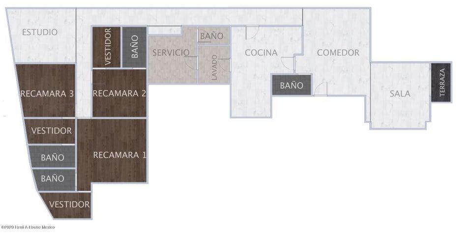 Departamento Distrito Federal>Miguel Hidalgo>Lomas de Chapultepec - Venta:12.419.000 Pesos - codigo: 21-1610