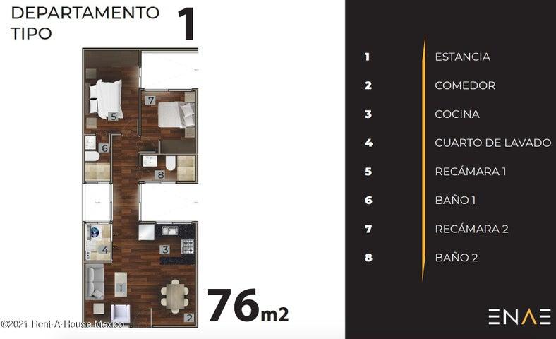 Departamento Distrito Federal>Coyoacan>Ajusco - Venta:2.736.000 Pesos - codigo: 21-3130