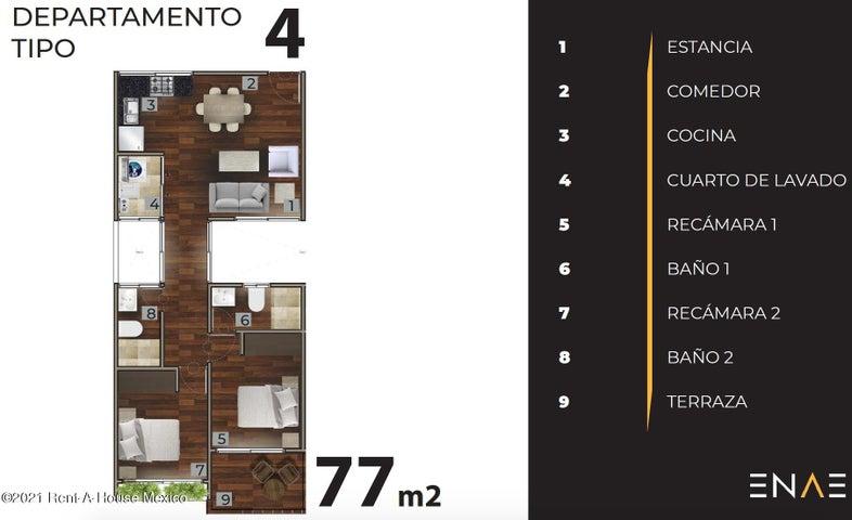 Departamento Distrito Federal>Coyoacan>Ajusco - Venta:2.772.000 Pesos - codigo: 21-3132