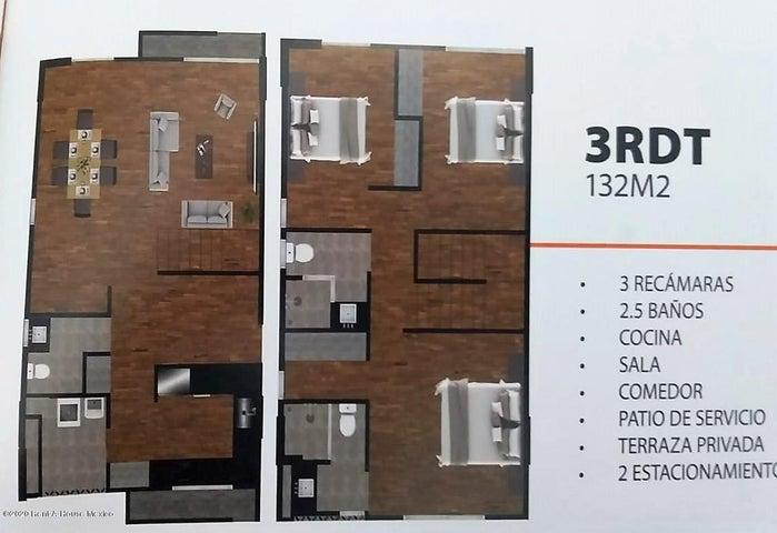Departamento Queretaro>Corregidora>Punta Esmeralda - Venta:2.206.000 Pesos - codigo: 21-3572