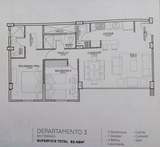 Departamento Queretaro>Queretaro>El Refugio - Venta:2.525.000 Pesos - codigo: 21-3573