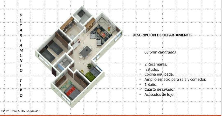 Departamento Distrito Federal>Iztapalapa>Peraje San Juan - Venta:1.479.000 Pesos - codigo: 21-3701
