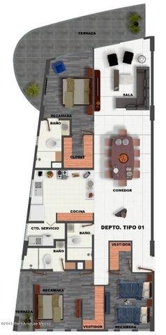 Departamento Queretaro>El Marques>Zibata - Venta:3.689.280 Pesos - codigo: 21-3770