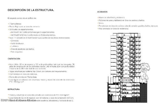 Departamento Distrito Federal>Benito Juárez>Narvarte Poniente - Venta:6.843.555 Pesos - codigo: 21-3883