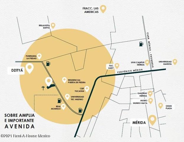 Terreno Yucatan>Merida>Dzitya - Venta:1.056.423 Pesos - codigo: 21-4317